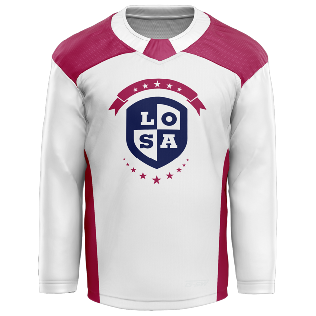 White LOSA Hockey Jersey